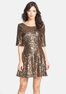 French Connection 'Ozlem' Sequin Fit & Flare Dress
