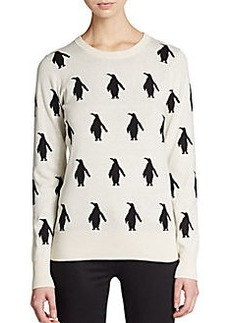 French Connection Penguin Intarsia Cotton Sweater