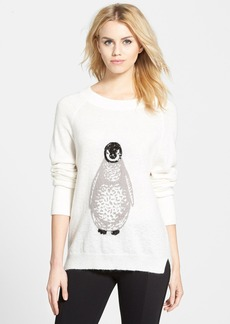 French Connection Penguin Knit Sequin Merino Wool Sweater (Online Only)