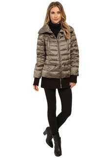 French Connection Pillow Collar Short Puffer Coat