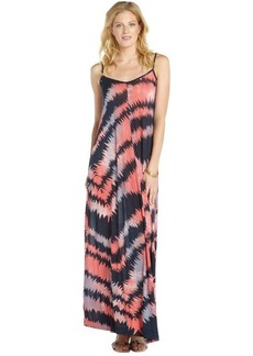 French Connection pink and navy stretch 'Electra' pattern printed spaghetti strap maxi dress