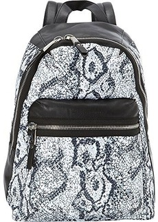 French Connection Piper Backpack, Black/White Snake, One Size
