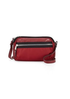 French Connection Piper Faux-Leather Trim Crossbody Bag