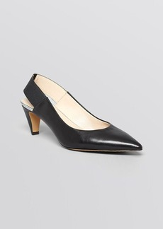 FRENCH CONNECTION Pointed Toe Slingback Pumps - Kourtney Mid Heel