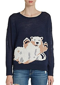 French Connection Polar Bear Intarsia Sweater