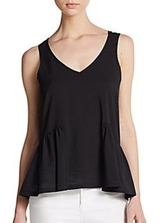 French Connection Polly Peplum Tank Top