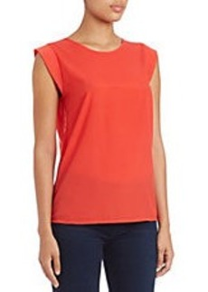 FRENCH CONNECTION Polly Plains Cap-Sleeve Tee