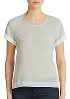 FRENCH CONNECTION Polly Plains Colorblock Top