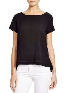 FRENCH CONNECTION Polly Plains Ruffle Top