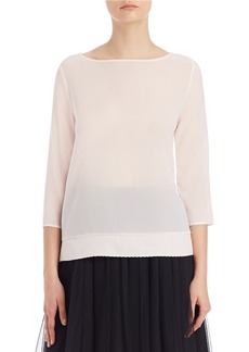 FRENCH CONNECTION Polly Scalloped Trim Top