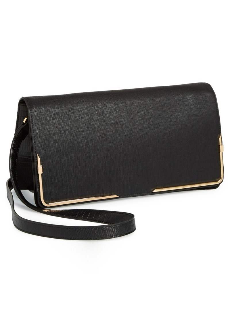 French Connection 'Prim Lady' Faux Leather Clutch