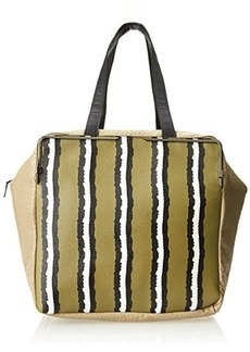 French Connection Prim Lady LG Tote,Sea Grass Stripe,One Size