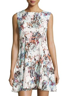 French Connection Printed Sleeveless Fit-&-Flare Dress