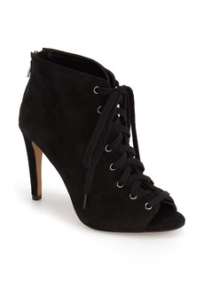 French Connection 'Quillan' Lace-Up Peep Toe Bootie (Women)