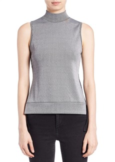 FRENCH CONNECTION Rachel Sleeveless Mixed-Media Top