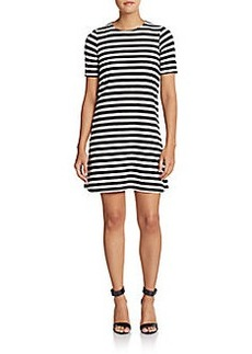 French Connection Railroad Stripe Shift Dress