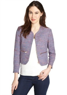 French Connection rainbow boucle zip front jacket