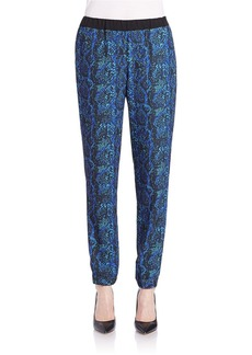 FRENCH CONNECTION Relaxed Silk-Like Printed Pants