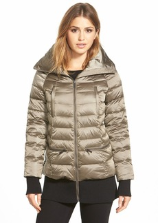 French Connection Ribbed Trim Pillow Collar Down Jacket