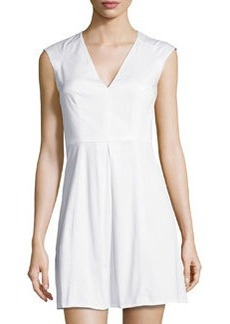French Connection Richie V-Neck Sleeveless Dress, White