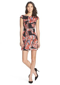 French Connection 'Riot Rose' Stretch Cotton Sheath Dress