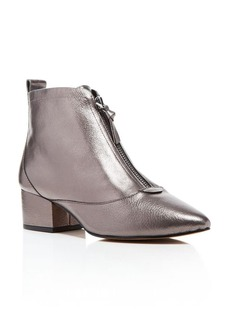 FRENCH CONNECTION Robrey Metallic Front Zip Mod Booties