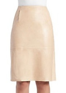 FRENCH CONNECTION Rocker Leather Pencil Skirt