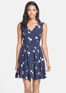 French Connection 'Romonov' Print Crepe Fit & Flare Dress