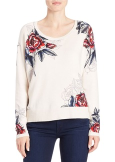 FRENCH CONNECTION Rose-Print Sweater