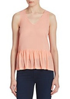 FRENCH CONNECTION Ruffle-Hem Tank Top