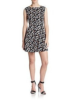 French Connection Sahara Rose-Print Stretch Cotton Fit-&-Flare Dress