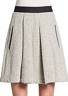 French Connection Salt & Pepper Pleated Skirt
