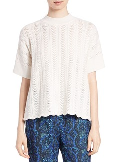 FRENCH CONNECTION Scalloped Textural Top