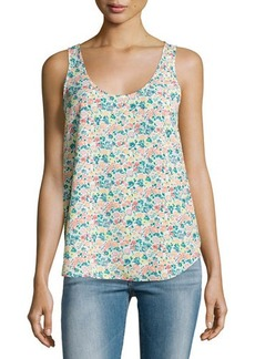 French Connection Scoop-Neck Floral-Print Tank