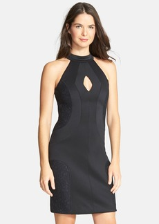 French Connection 'Scubalicious' Cutout Lace Panel Body-Con Dress