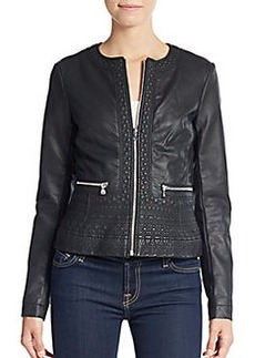 French Connection Seamed Faux Leather Jacket