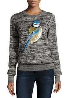 French Connection Sequin Sparrow Slub-Knit Sweater