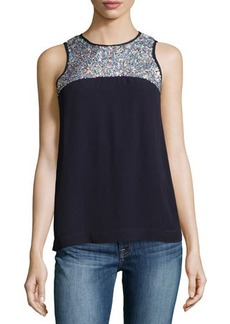 French Connection Sequined Sleeveless Top