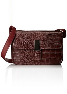 French Connection Shes A Lady Mini Cross Body Bag,Burgundy Crocodile,One Size