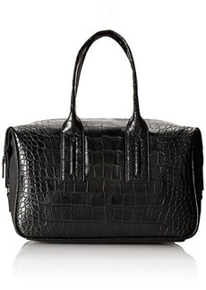 French Connection Shes A Lady Satchel,Black Crocodile,One Size
