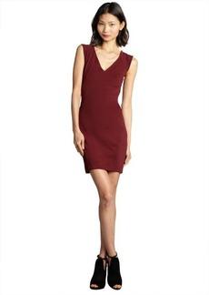 French Connection shiraz sleeveless v-neck 'Rita' stretch knit eyelash detail dress