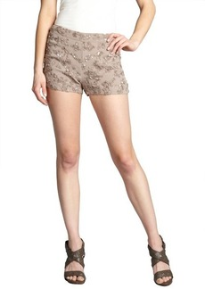 French Connection silverweed sequined mini shorts