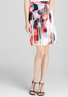 FRENCH CONNECTION Skirt - Miami Graffiti Pleat