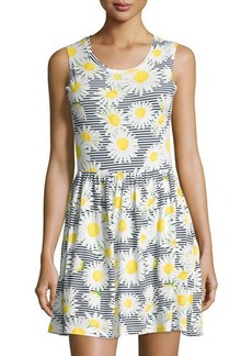 French Connection Sleeveless Daisy-Stripe Dress