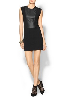 French Connection Solar Pleating Dress With Pleather