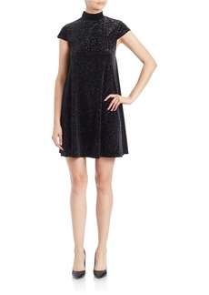 FRENCH CONNECTION Sparkling Mockneck Shift Dress