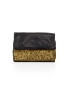 French Connection Spectrum Metallic Fold Over Clutch