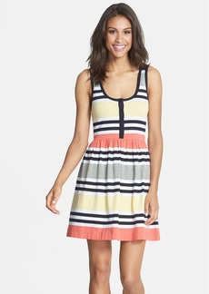 French Connection Stripe Jersey Fit & Flare Dress