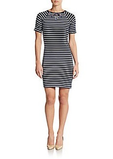 French Connection Striped Necklace Dress