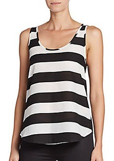 French Connection Striped Solid-Back Tank